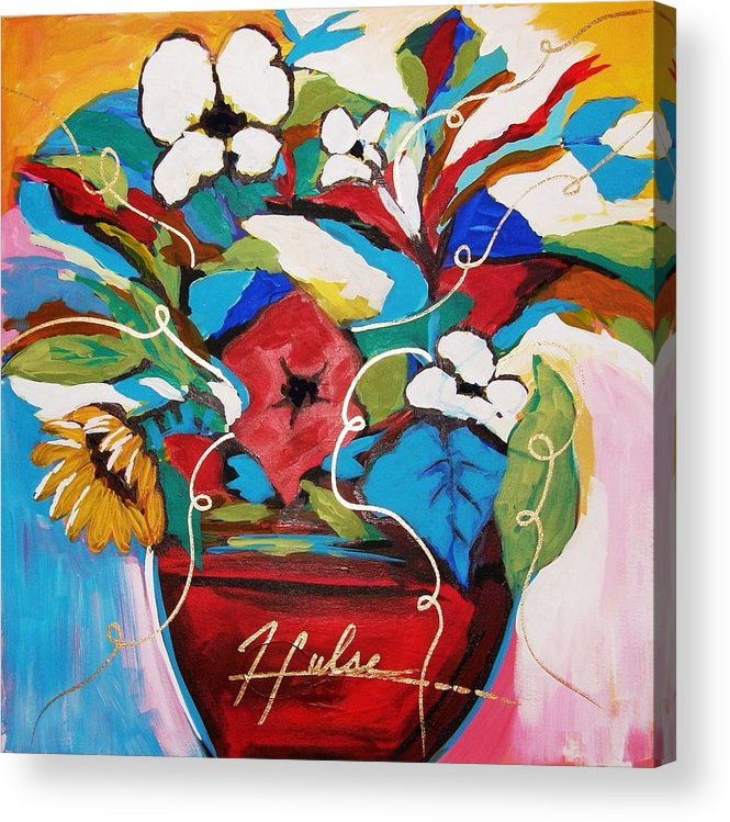 Floral Acrylic Print featuring the painting Still Dreaming Of Tuscany by Gina Hulse