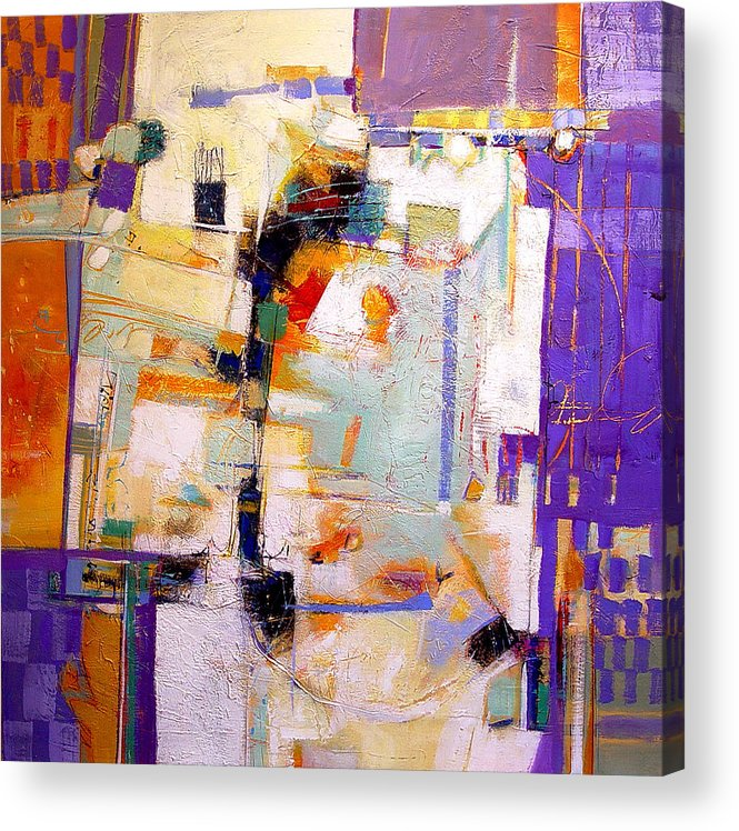 Abstract Acrylic Print featuring the painting Street Fair by Dale Witherow