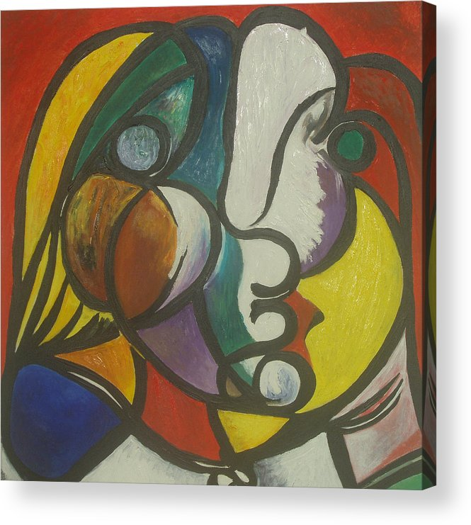 Picasso Acrylic Print featuring the painting Study After Picasso by Ibrahim Rahma