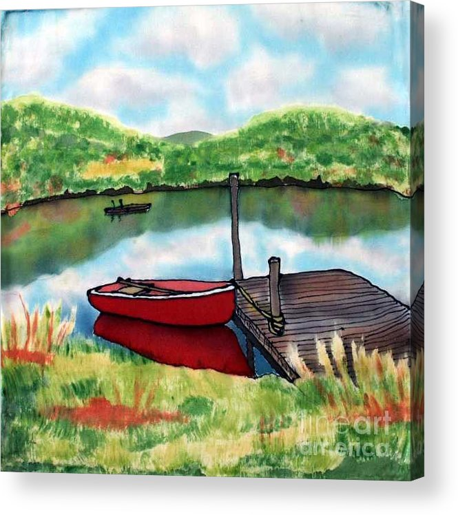 Summer Acrylic Print featuring the painting Sumer Reflections by Linda Marcille