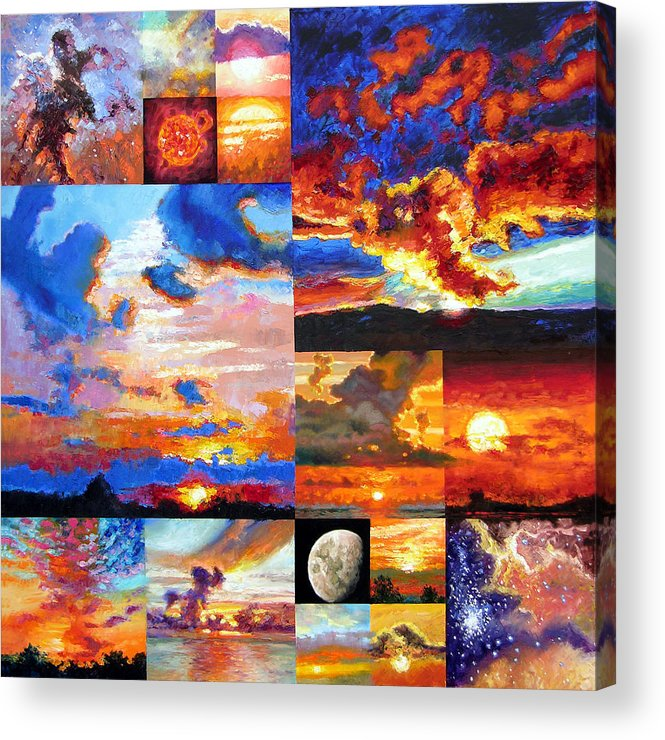 Sunrise Acrylic Print featuring the painting Sunrise Sunset Sunrise by John Lautermilch