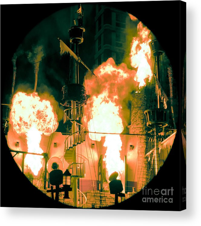 Las Vegas Acrylic Print featuring the photograph Target In Flames by Andy Smy