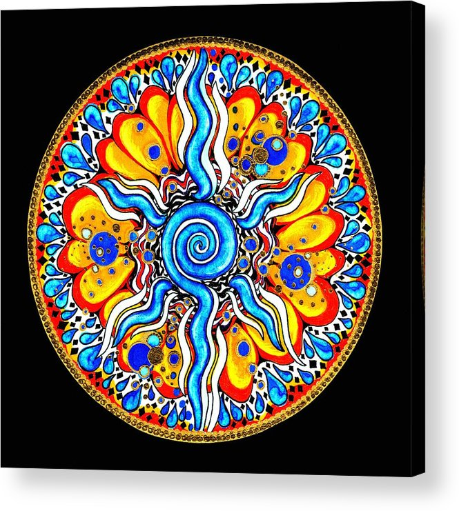 Mandala Acrylic Print featuring the painting Tears Of Joy by Pam Ellis