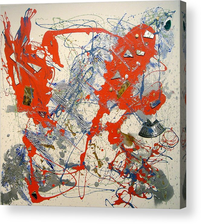 Abstract Acrylic Print featuring the painting Temperatio by Irma Hinghofer-Szalkay