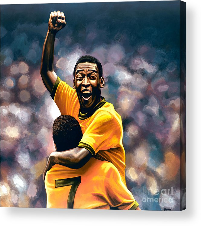 Pele Acrylic Print featuring the painting The Black Pearl Pele by Paul Meijering