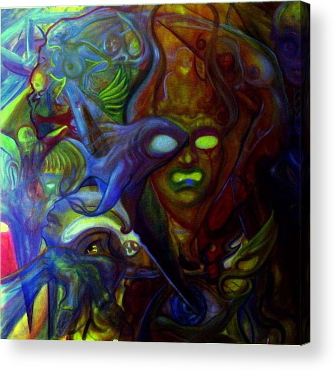 Chaos Acrylic Print featuring the painting The Clutter Of Chaos by Will Le Beouf