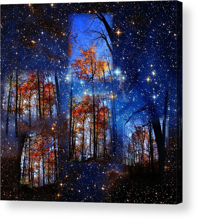 Deep Space Acrylic Print featuring the photograph The Face Of Forever by Dave Martsolf