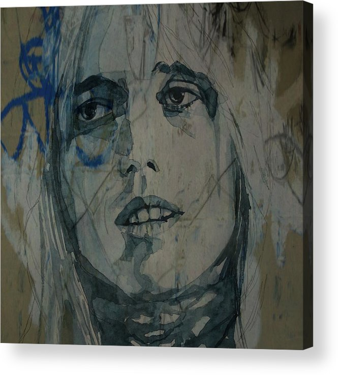 Tom Petty Acrylic Print featuring the mixed media Tom Petty by Paul Lovering