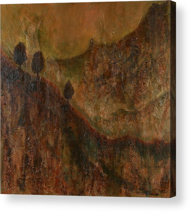 Original Acrylic Mixed Media Abstract Acrylic Print featuring the painting Transition by Sharon Steinhaus