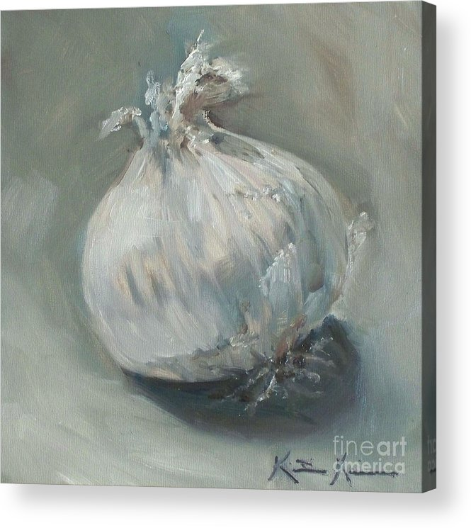Onion Acrylic Print featuring the painting White Onion No. 1 by Kristine Kainer