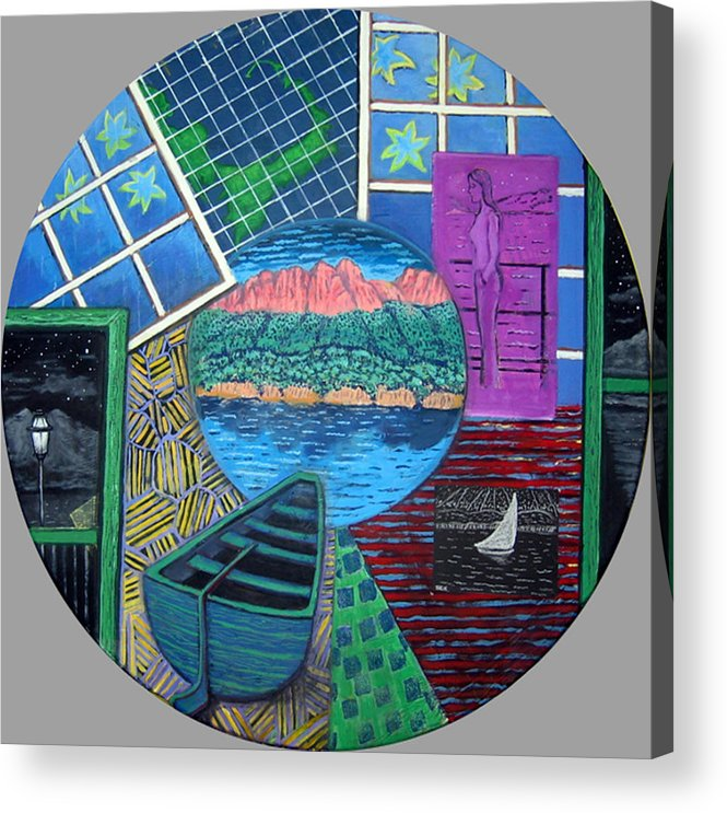 Windows Acrylic Print featuring the painting Windows by Susan Stewart