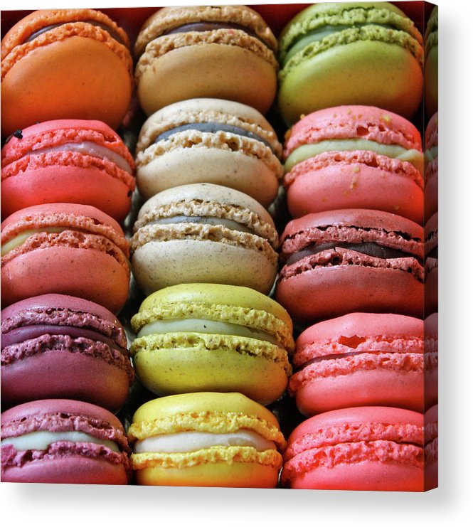 Unhealthy Eating Acrylic Print featuring the photograph Paris Colorful Macaroons by Abbietabbie