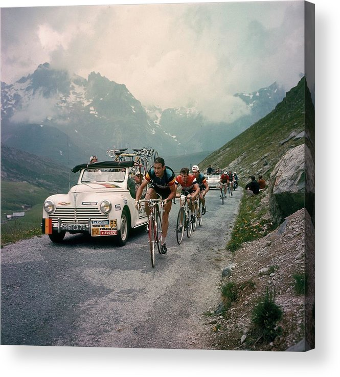 European Alps Acrylic Print featuring the photograph Racing Cyclists Of The Tour De France by Keystone-france