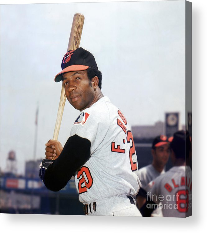 American League Baseball Acrylic Print featuring the photograph Frank Robinson by Louis Requena