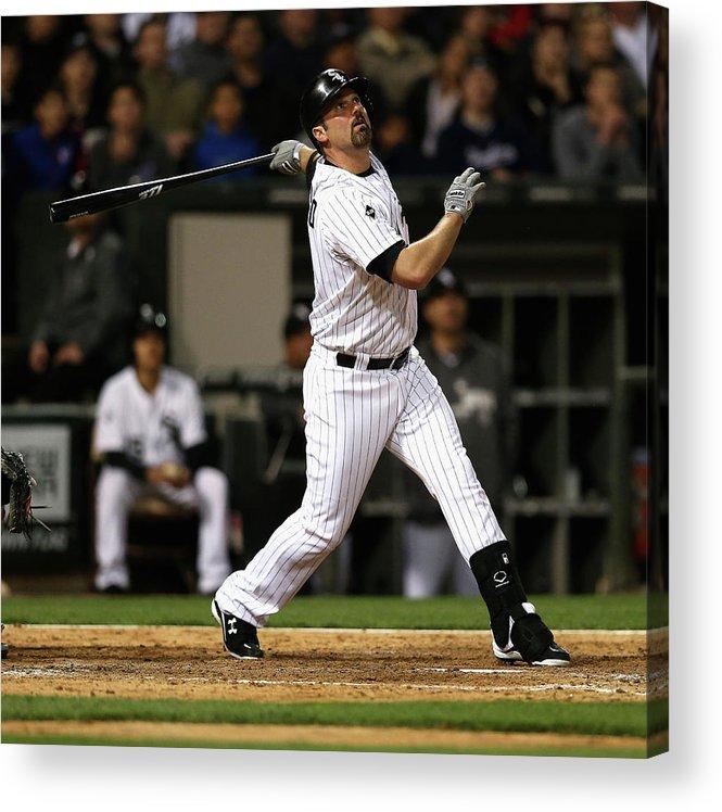American League Baseball Acrylic Print featuring the photograph Paul Konerko by Jonathan Daniel