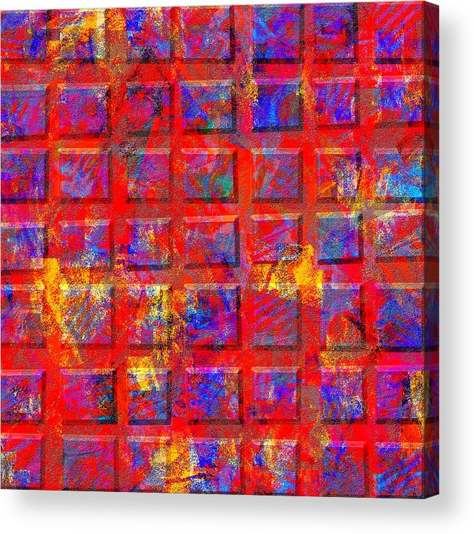 Abstract Acrylic Print featuring the digital art 0890 Abstract Thought by Chowdary V Arikatla