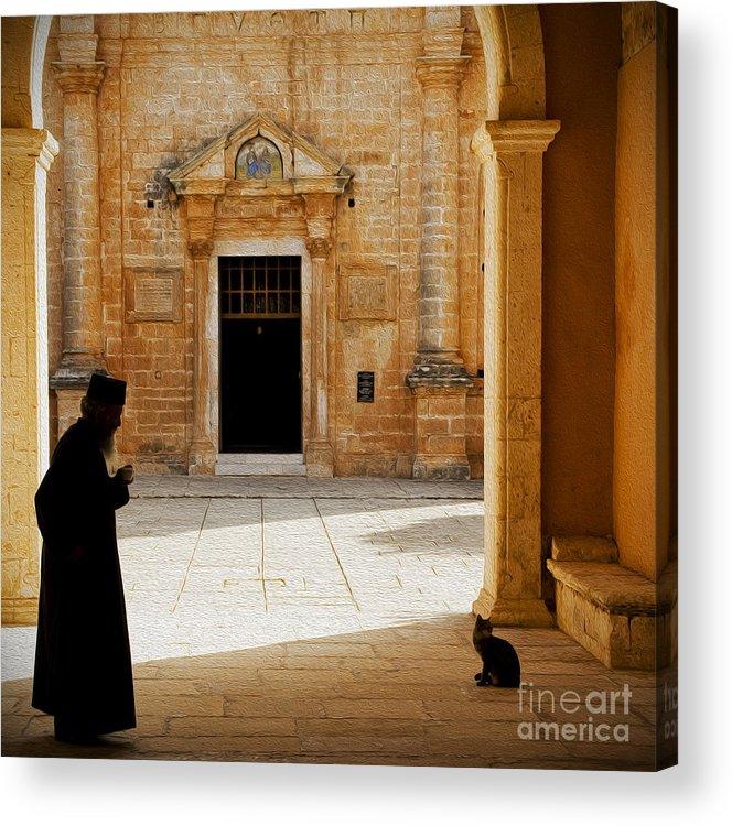Monastery Acrylic Print featuring the photograph Monastery by Ewa Husejko-Swoszowska