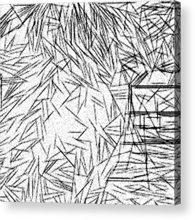 Jonathan Harnisch Acrylic Print featuring the drawing Postmodern Abstraction by Jonathan Harnisch