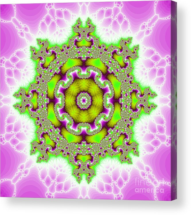 Fracta Acrylic Print featuring the digital art The Kaleidoscope by Odon Czintos