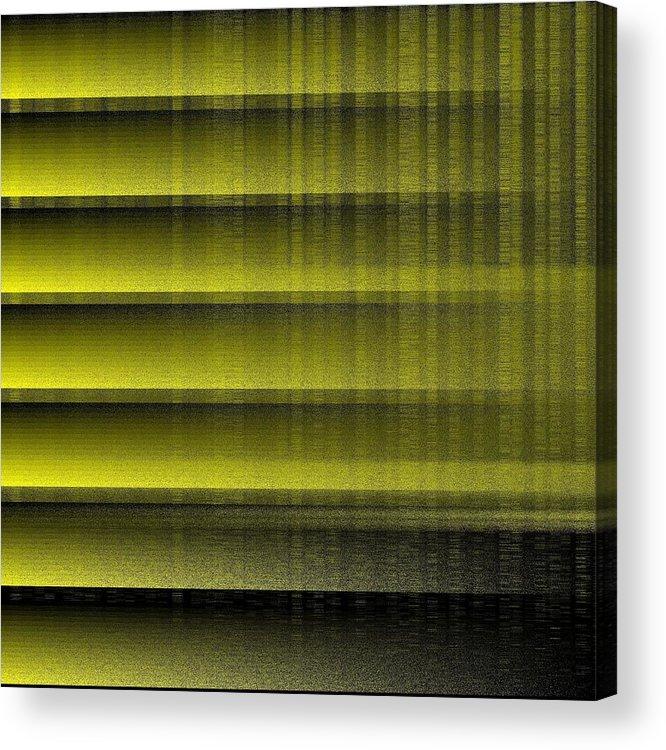 Yellow 16 Shades Abstract Algorithm Digital Rithmart Acrylic Print featuring the digital art 16shades.6 by Gareth Lewis