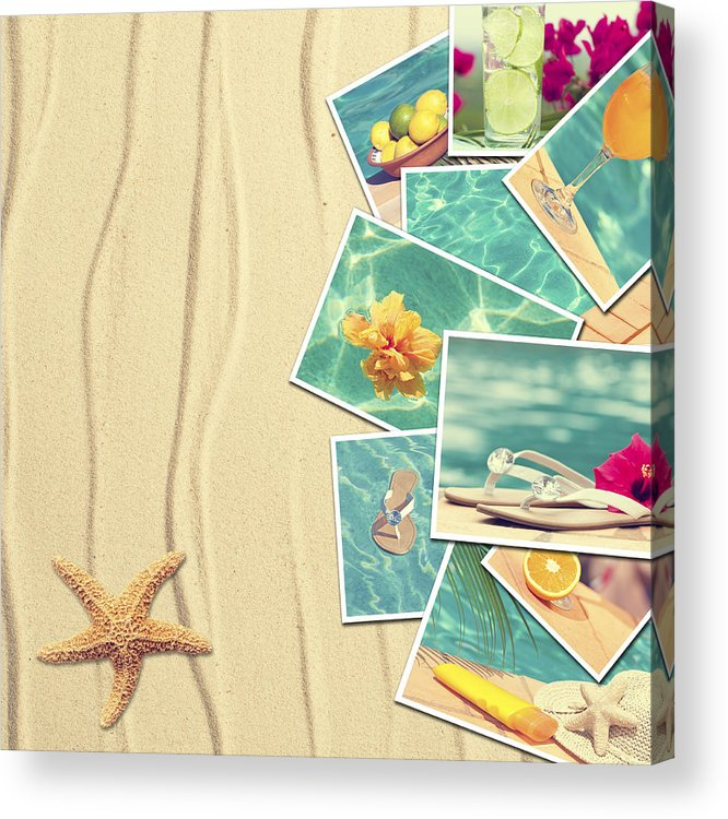 Sand Acrylic Print featuring the photograph Vacation Postcards by Amanda Elwell