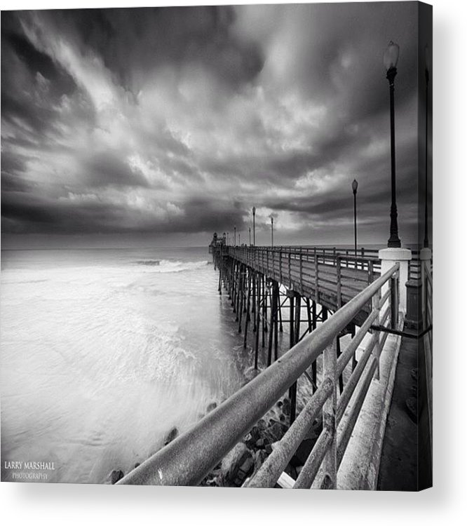 Acrylic Print featuring the photograph Long Exposure Sunset At The Oceanside by Larry Marshall