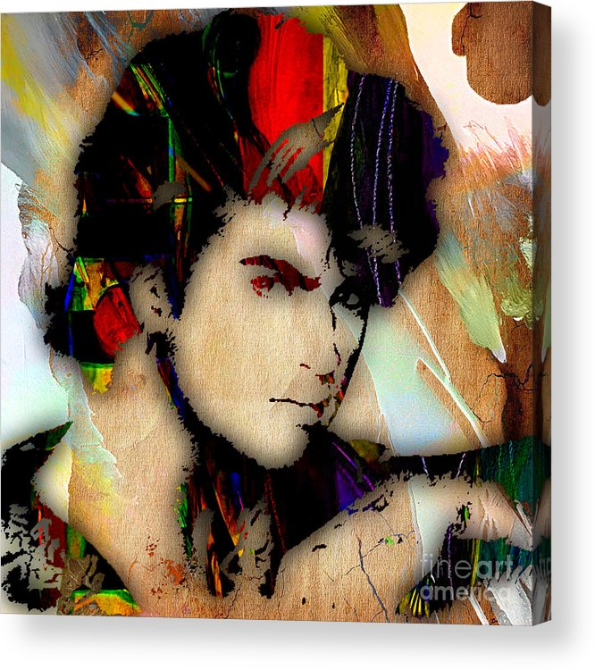 George Michael Acrylic Print featuring the mixed media George Michael Collection by Marvin Blaine