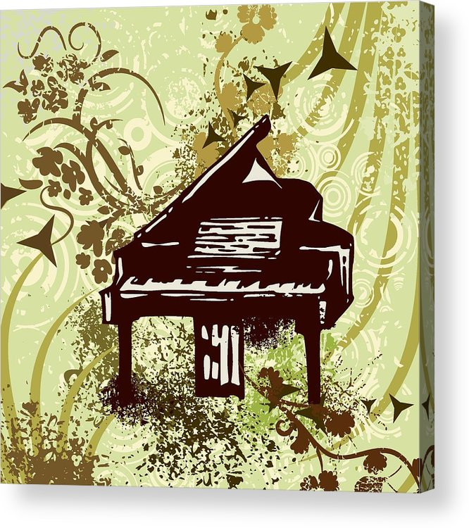 Vector Acrylic Print featuring the drawing Musical Backgrounds With Instraments by ClipartDesign