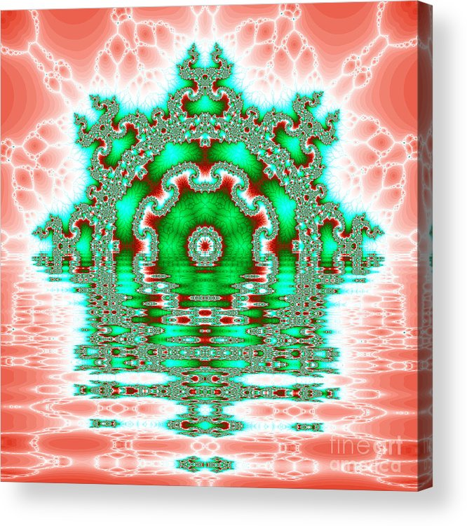 Fracta Acrylic Print featuring the digital art The Kaleidoscope Reflections by Odon Czintos