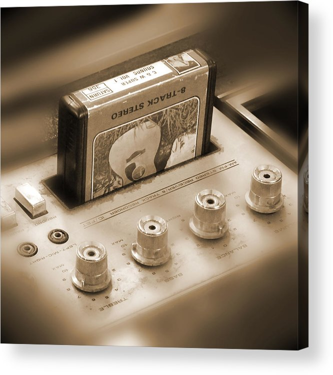 8-track Tape Player Acrylic Print featuring the photograph 8-track Tape Player by Mike McGlothlen