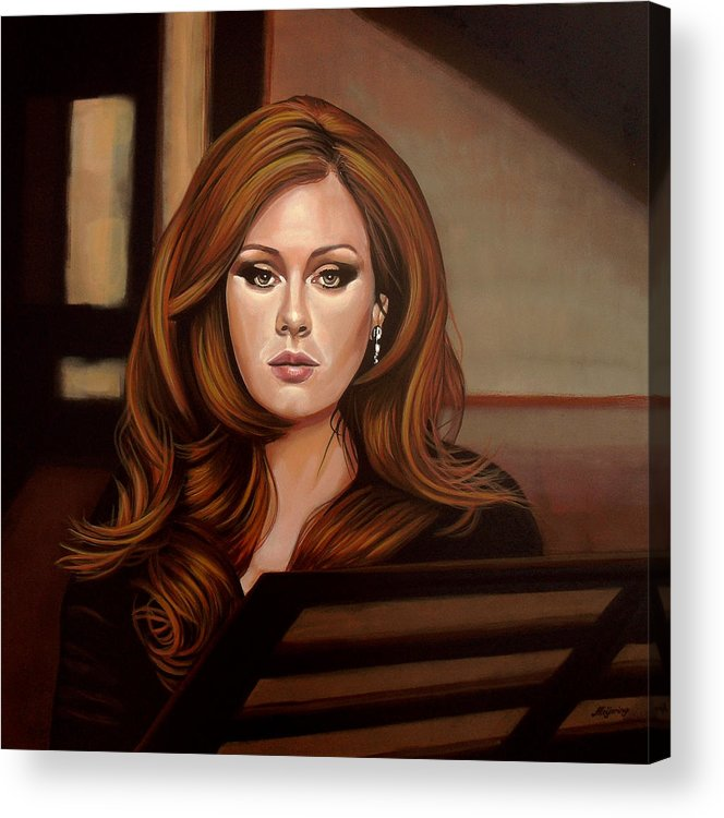 Adele Acrylic Print featuring the painting Adele by Paul Meijering