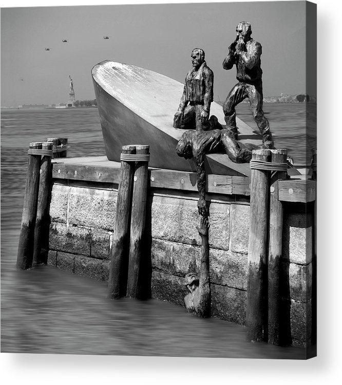 Landmarks Acrylic Print featuring the photograph American Merchant Mariners Memorial by Mike McGlothlen