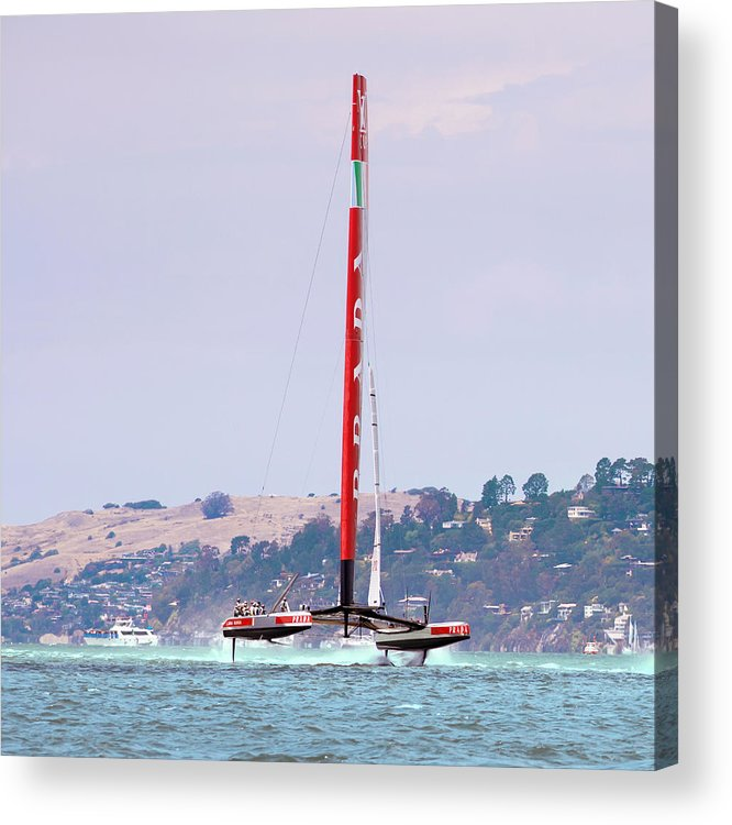 Catamaran Acrylic Print featuring the photograph America's Cup 2013 Luna Rossa 02 by Daniel Furon
