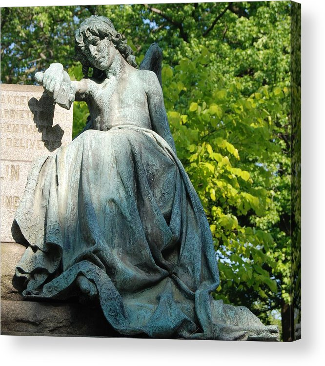 Greenwood Acrylic Print featuring the photograph Angel Statue by Philip Ralley