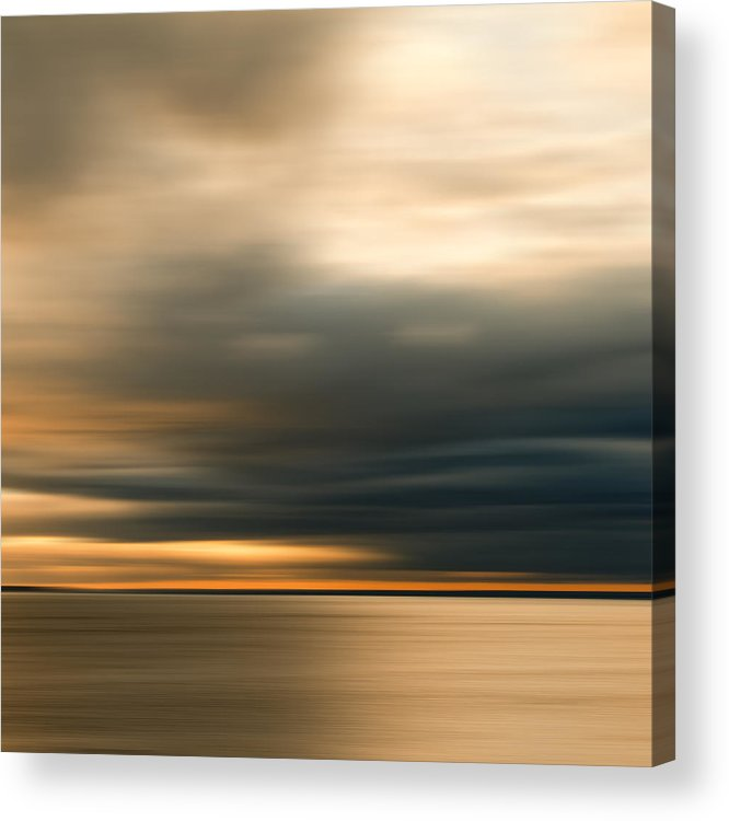 Impressionist Acrylic Print featuring the photograph Approaching Evening Storm by Bob Retnauer