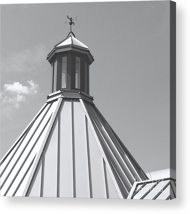 Roof Acrylic Print featuring the photograph Architectural Gray by Ann Horn