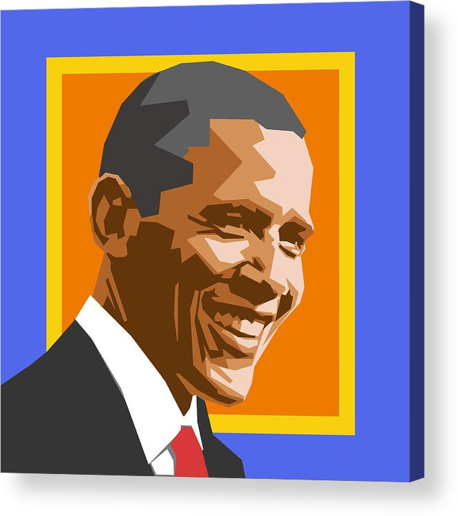 Barack Acrylic Print featuring the digital art Barack by Douglas Simonson