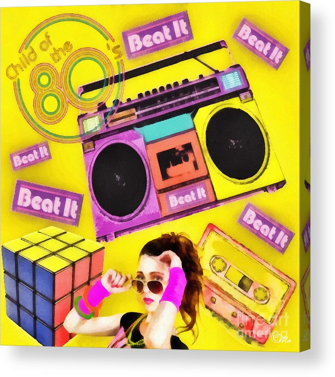 Beat It Acrylic Print featuring the digital art Beat It by Mo T