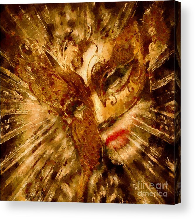 Painting Acrylic Print featuring the painting Behind The Mask by Scott B Bennett