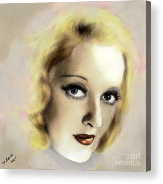 Arne J Hansen Acrylic Print featuring the photograph Bette Davis Eyes by Arne Hansen