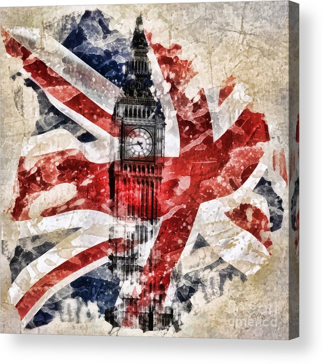 Big Ben Acrylic Print featuring the painting Big Ben by Mo T