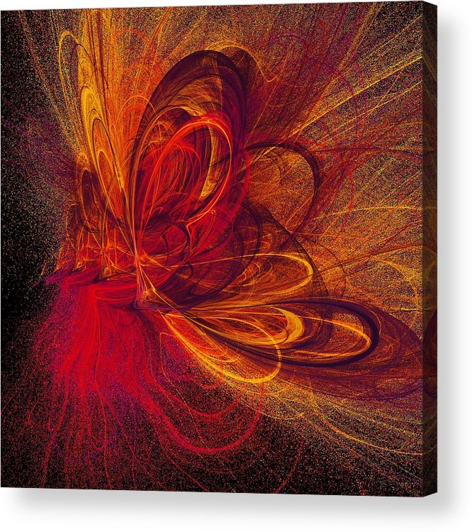 Abstract Butterfly Prints Acrylic Print featuring the digital art Butterfire by Sharon Lisa Clarke