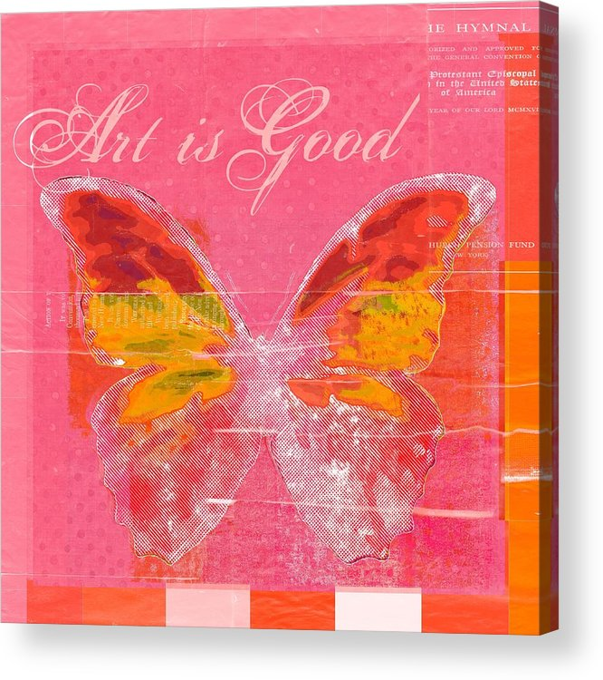 Butterfly Acrylic Print featuring the digital art Butterfly Art - P11aig13a_ Art Is Good by Variance Collections