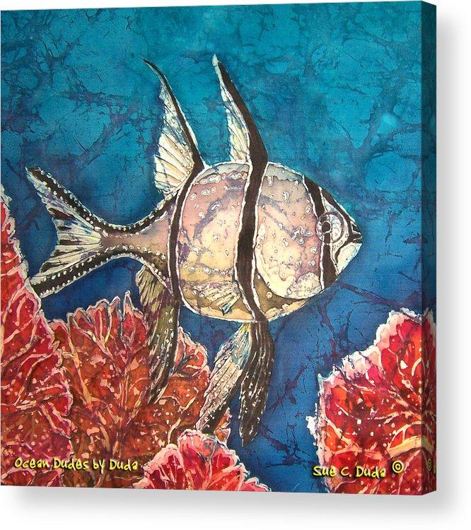 Cardinalfish Acrylic Print featuring the painting Cardinalfish by Sue Duda