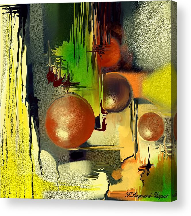 Abstract Acrylic Print featuring the painting Centaure by Francoise Dugourd-Caput