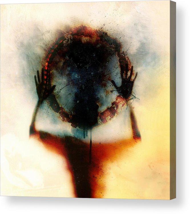 Identity Acrylic Print featuring the digital art Closer by Mario Sanchez Nevado