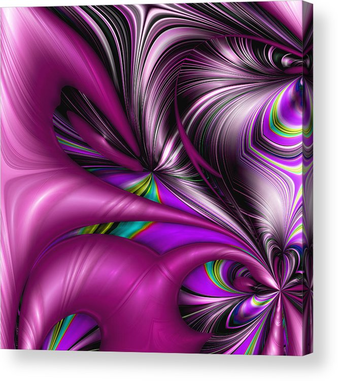 Abstract Acrylic Print featuring the digital art Counterpoint by Wendy J St Christopher