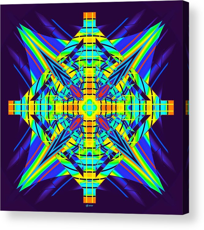 Abstract Acrylic Print featuring the digital art Direction Overload 2 by Brian Johnson