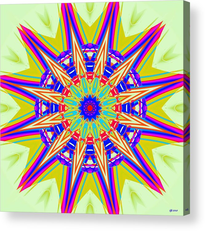 Abstract Acrylic Print featuring the digital art Direction Overload 3 by Brian Johnson