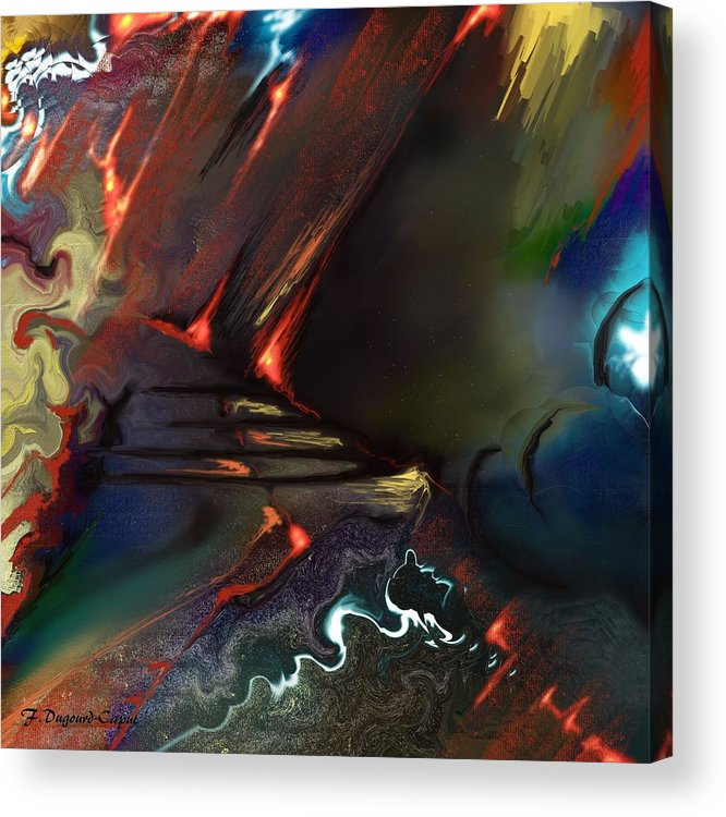 Abstract Acrylic Print featuring the painting Dragonland by Francoise Dugourd-Caput
